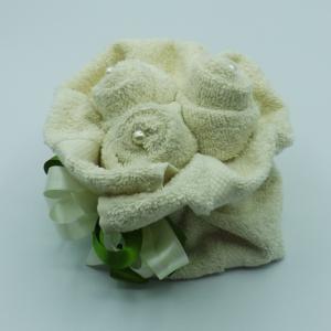 bouquet 3 rose con perle