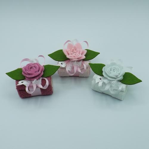 lavette sapone fiore feltro