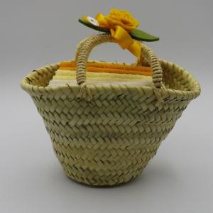 borsetta di intreccio di foglie di palma