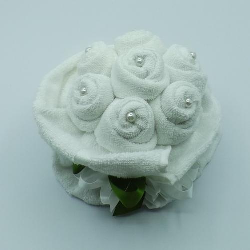 bouquet 7 rose con perle