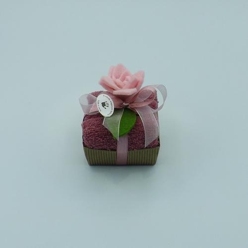 cesto cartone 1 fiore feltro