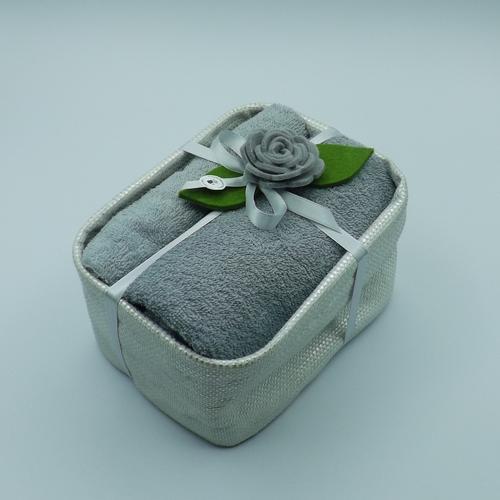 cesto rettangolare bagno argento