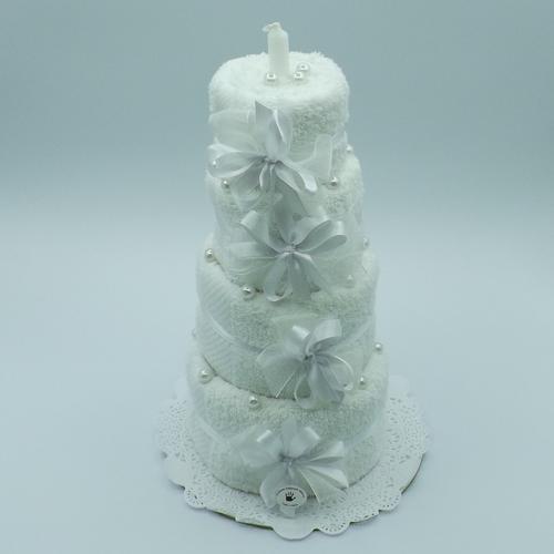 torta 4 piani con perle