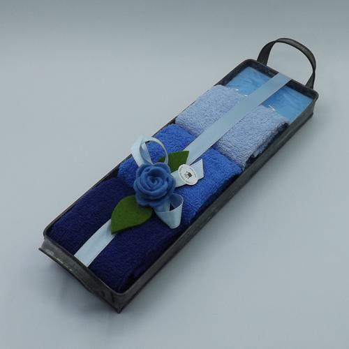 vassoio latta rettangolare blu