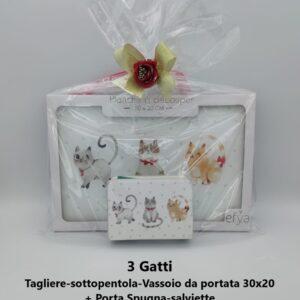 confezione regalo 3 gatti