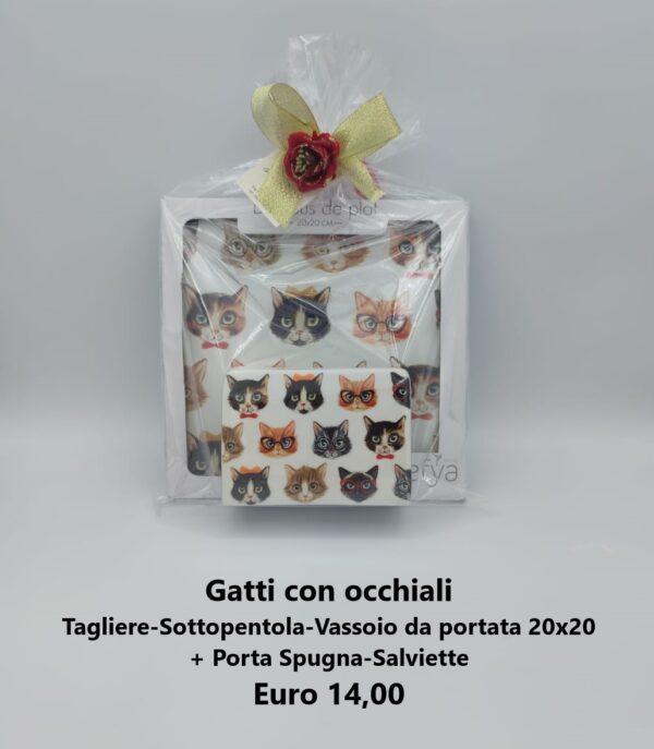 confezione regalo gatti con occhiali 4