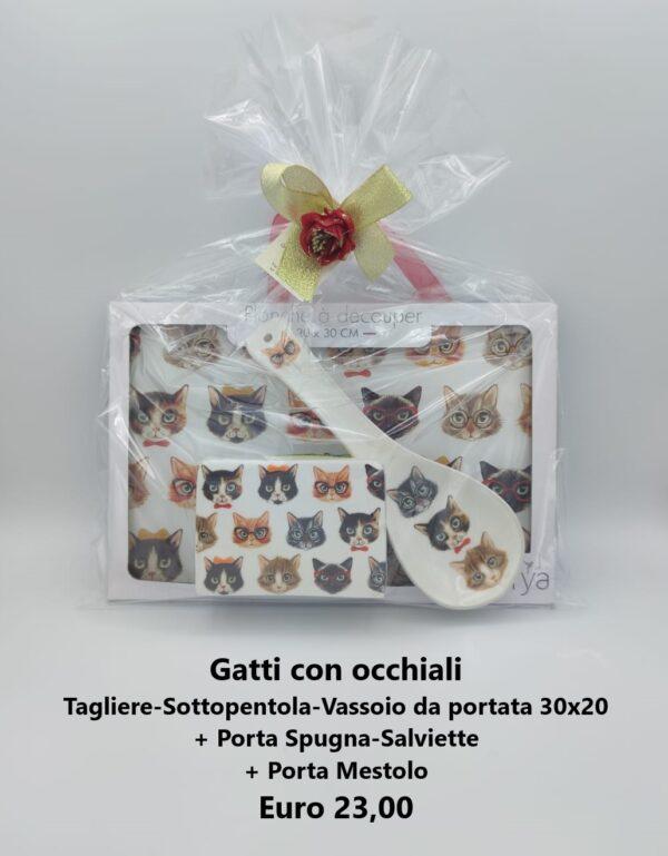 confezione regalo gatti con occhiali 5