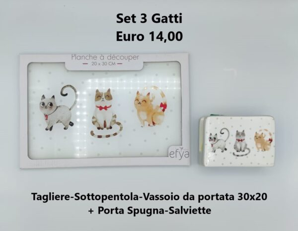 Set 3 gatti