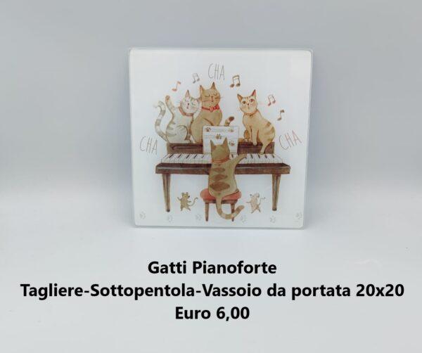 tagliere sottopentola gatti pianoforte