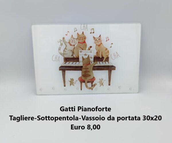 tagliere 30x20 gatti pianoforte
